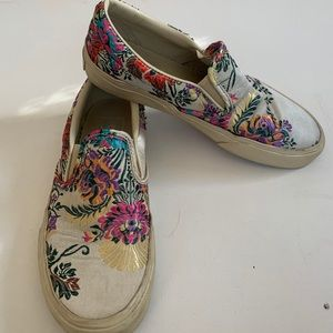 Vans satin and embroidered